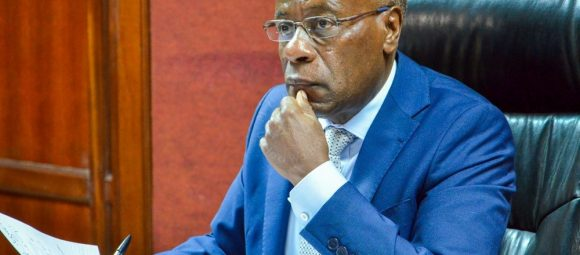 Judge John Mativo at Milimani Law Courts on March 11, 2020.